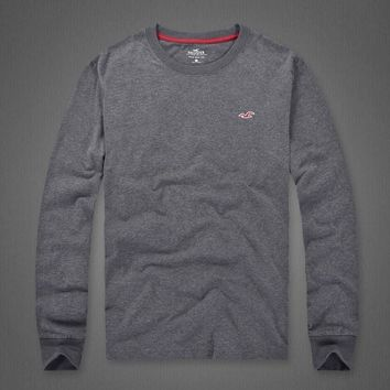 Hollister Women Men Fashion Casual Top Sweater-2