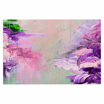 "Ebi Emporium ""Winter Dreamland 4"" Pink Purple Decorative Door Mat"