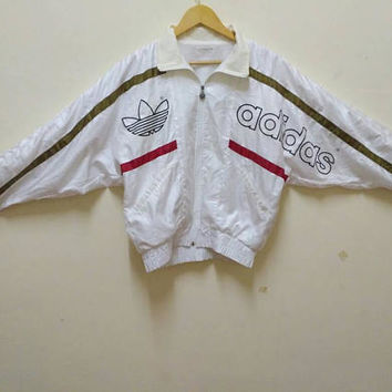 adidas trefoil windbreaker big logo sports wear vintage hip hop rare