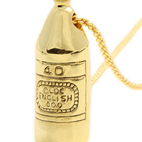 The 40 Oz Pendant in Brass Plated Gold