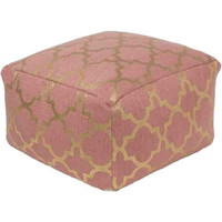 Cecily Pouf ~ Rose/Gold