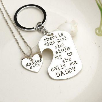 There is this girl she stole my heart she calls me grandpa Family Pendant