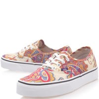 Vans x Liberty Art Fabrics Cream Flower Paisley Liberty Print Authentic Trainers | Women's Shoes by Vans | Liberty.co.uk
