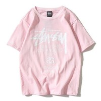 Stussy Woman Men Fashion Print Tunic Shirt Top Blouse