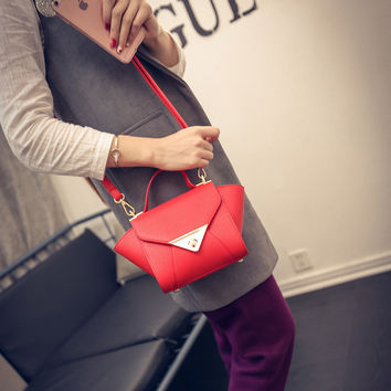 Stylish Lock Bags Ladies Messenger Bags Shoulder Bag [8226766983]