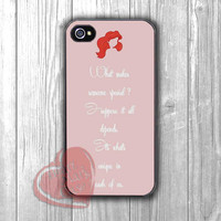 Disney Ariel the Little Mermaid Quotes -tri for iPhone 4/4S/5/5S/5C/6/ 6+,samsung S3/S4/S5,samsung note 3/4