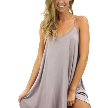 So It Goes Criss Cross Side Cami Dress