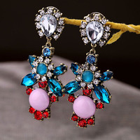 Big Rhinestone Party Earrings