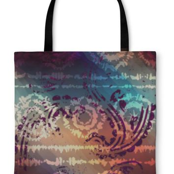 Tote Bag, Tiedye Grunge Pattern With Transparency