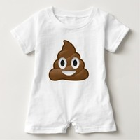 poop emoji baby infant clothes clothing bodysuit