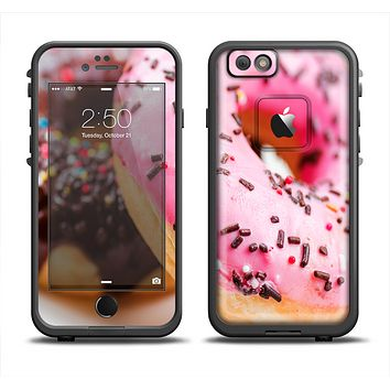 The Sprinkled Donuts Apple iPhone 6 LifeProof Fre Case Skin Set