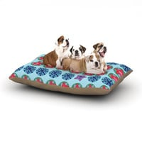 "Jane Smith ""Seasons Winter"" Blue Red Dog Bed"