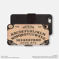 Tabuleiro Ouija SUBROSA BRAND iPhone Samsung Galaxy leather wallet case cover 065