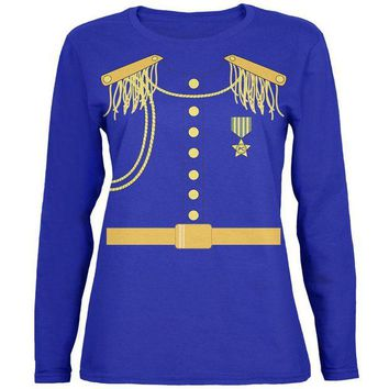 DCCKIS3 Halloween Prince Charming Womens Long Sleeve T Shirt