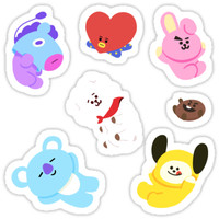 'BT21 Sticker Set' Sticker by ZeroKara