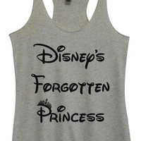 Womens Tri-Blend Tank Top - Disney's Forgotten Princess