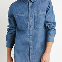 Oversized Pocket Denim Shirt