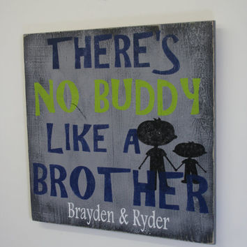 Boys Bedroom Sign Personalized Boys Sign Brothers Wood Sign Pallet Wood Sign Distressed Wood Sign Rustic Chic Boys Bedroom Boys Gray Bedroom