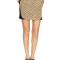 Wool Contrast Panel Mini Skirt