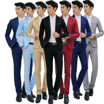 Helisopus Men Formal Wedding Bridegroom Suits Slim Fit One Button Decor party dress Fashion Smart Casual terno masculino Tuxedos
