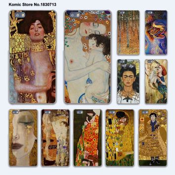 the kiss Gustav Klimt Painting Frida Kahlo design hard transparent Cover Case for huawei P10 Plus P8 P9 Lite Mate 9 S 8 7 phone