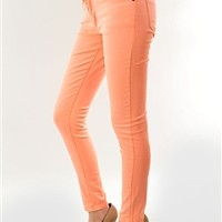 What I Almost Was Skinny Jeans - Neon Orange