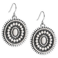 Lucky Brand Earrings, Silver-Tone Semi-Precious Reconstituted Calcite Drop Earrings - All Fashion Jewelry - Jewelry & Watches - Macy's