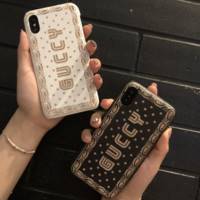 GUCCY Fashion new star letter print hard phone case shell protector two color