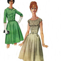 60s Vintage Sewing Pattern Dress and Jacket McCalls Pattern 6127 Bust 32 Dated 1961 Original not a Repro