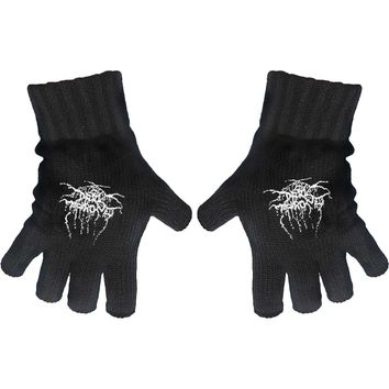 Dark Throne Logo Knit Gloves Black