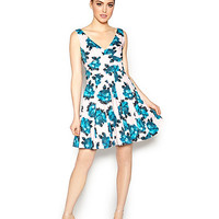 BETSEYS BLUE FOR YOU DRESS BLUE MULTI