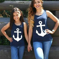 Mommy and Me Anchor back bow matching tank tops