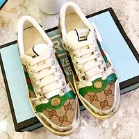 GUCCI Fashion New More Letter Print Contrast Color Women Men Sports Leisure Running Shoes