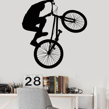 Vinyl Wall Decal Bike BMX Bicycle Teen Room Extreme Sports Stickers Unique Gift (ig3417)