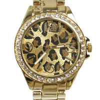 Leopard Metal Watch | Shop Watches at Wet Seal