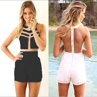 NEW Women's Ladies Sexy Slim Bodycon Jumpsuit Romper Trousers Clubwear S M L