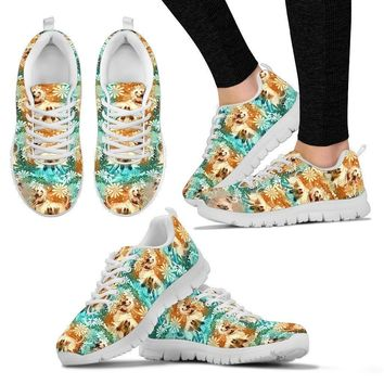 Afghan Hound Pattern Print Sneakers For Women- Express Shipping