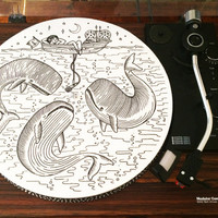 Turntable Slipmat: Whale Song