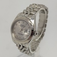 Rolex DateJust 179174 26mm White Gold Bezel & Steel Ladies Watch Full Set