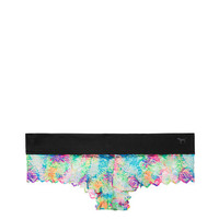 Geo Lace Cheekster Panty - PINK - Victoria's Secret