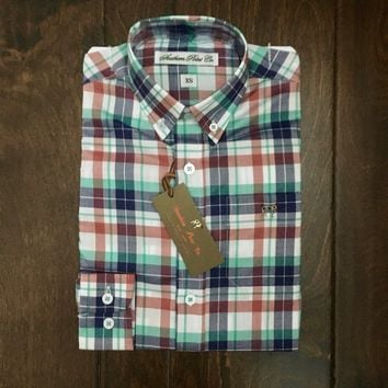 Southern Point - Youth Hadley Button Down - Spring Plaid