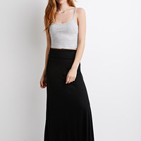 Classic Fold-Over Maxi Skirt