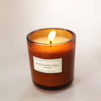 Spiked Apple Cider Glass Candle by Brooklyn Candle Studio