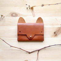 Fox Wallet - simple leather cardholder
