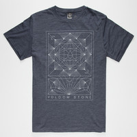 Volcom Geometry Mens T-Shirt Heather Navy  In Sizes