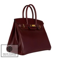RARE ROUGE HERMES H BOX LEATHER BIRKIN 35CM HERMES BAG GOLD GHW BNIB 2016