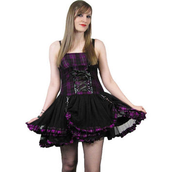 Poizen Trix Dress - Purple :: VampireFreaks Store :: Gothic Clothing, Cyber-goth, punk, metal, alternative, rave, freak fashions