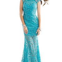 Floor Length Lace Prom Dress