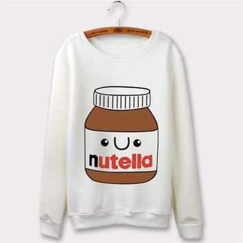 "New Fashion Hoodie Sweatshirt 3D ""Nutella"" Chocolate Cream Print Harajuku Casual Hoodies Sweater Pullover Tops"