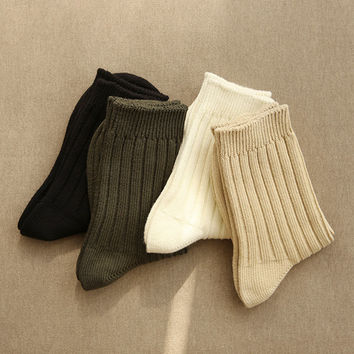 Comfortable yours for life knit rib women socks